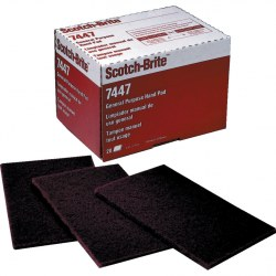 Scotch-brite 3M rouge en coupe